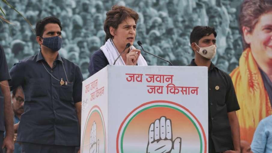 """""""जब तक दम है, तब तक लड़ूंगी"""", मेरठ किसान महापंचायत में बोलीं प्रियंका गांधी- India TV Hindi"""