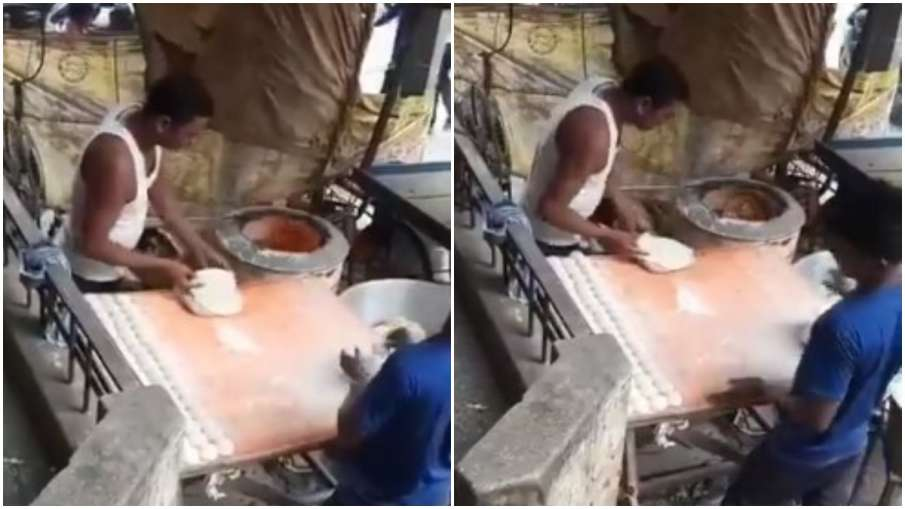 man spitiing on tandoori - India TV Hindi