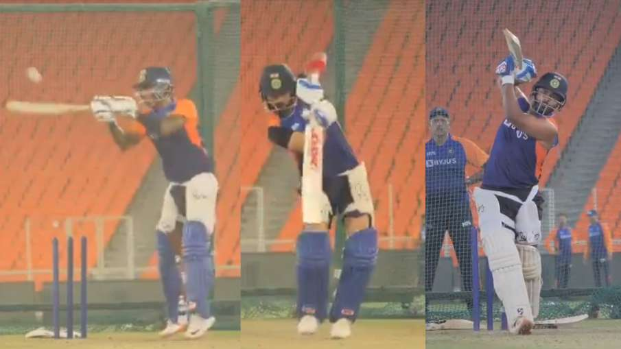 IND vs ENG: BCCI released video of Suryakumar, Pant and Kohli playing in nets before T20I series - स- India TV Hindi