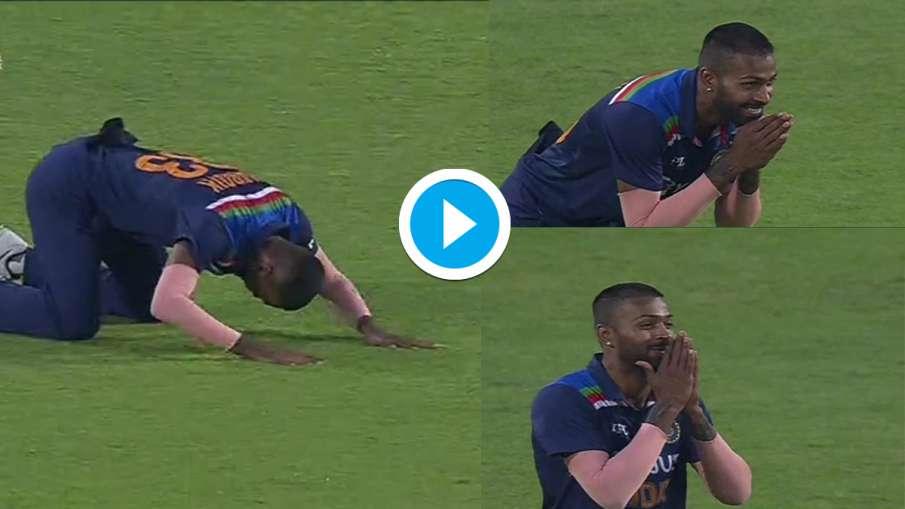 Hardik Pandya Funny Reaction when Shikhar Dhawan catches Ben Stokes- India TV Hindi