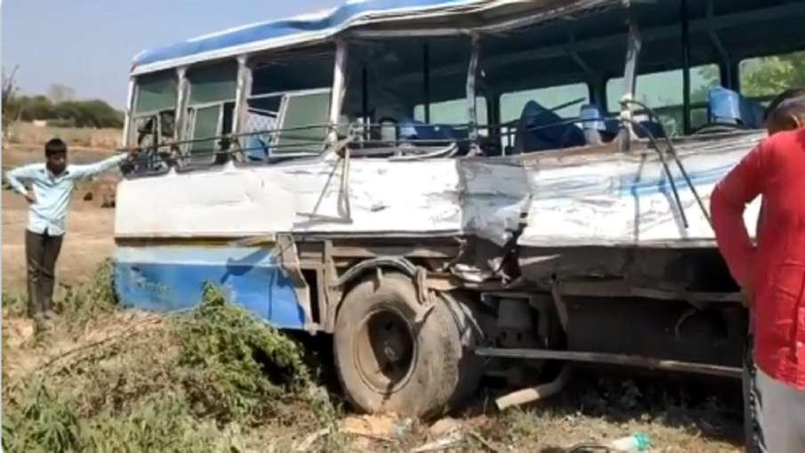 अलीगढ़ जिले में दो बसों की टक्कर में 5 लोगों की मौत, 25 घायल- India TV Hindi