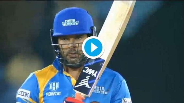 Yuvraj Singh hit 6 sixes and played 49 runs off 20 balls Road Safety World Series- India TV Hindi