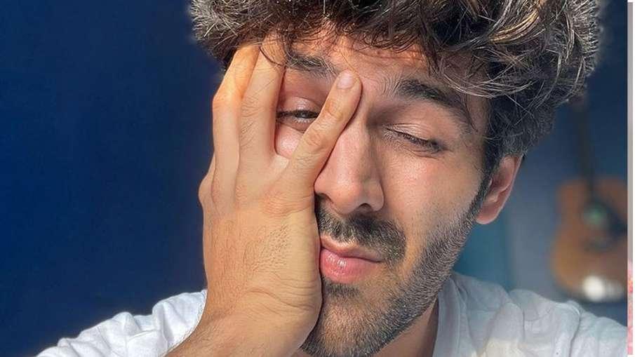 कार्तिक आर्यन ने अपनी सेल्फी शेयर करके फैंस से पूछा मजाकिया सवाल, पूछा- उठ जाऊं या...- India TV Hindi