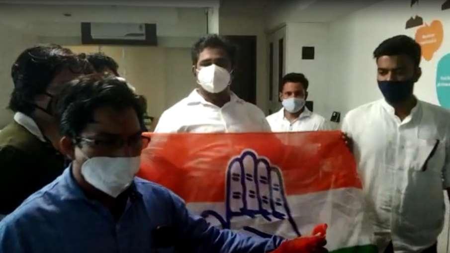 विज्ञापन वीडियो में राहुल गांधी का मजाक उड़ाने पर कांग्रेस कार्यकर्ताओं ने की व्यापारी के दफ्तर में - India TV Hindi