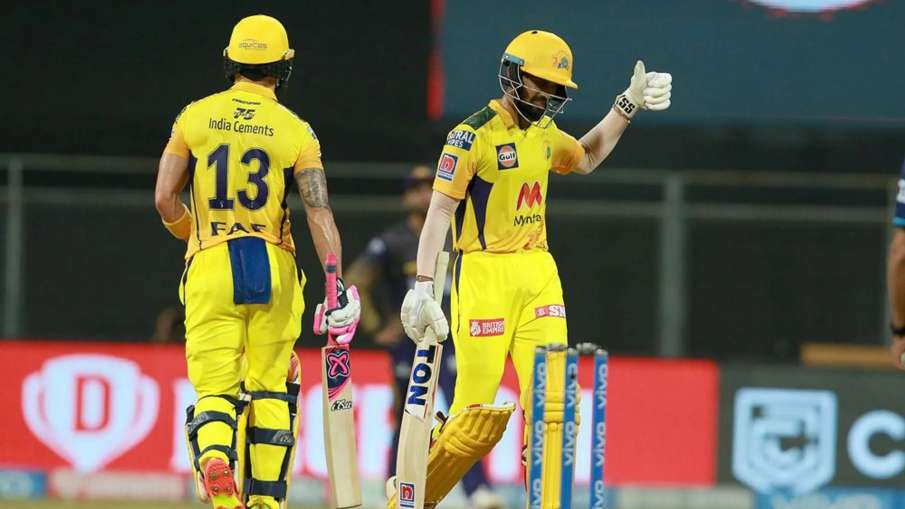 Faf du Plessis Said Ruturaj Gaikwad Been very lucky playing under MS for a long time CSK vs KKR - India TV Hindi