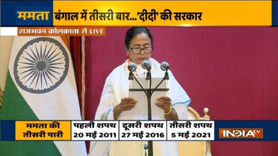 mamata banerjee oath west bengal chief minister bjp mla oath against violence jp nadda पश्चिम बंगाल:- India TV Hindi