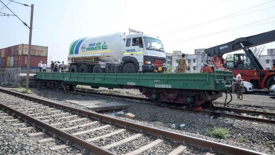 ऑक्सीजन एक्सप्रेस ने सोमवार सुबह तक रिकॉर्ड 10,000 टन 'प्राण वायु' की ढुलाई की - India TV Hindi