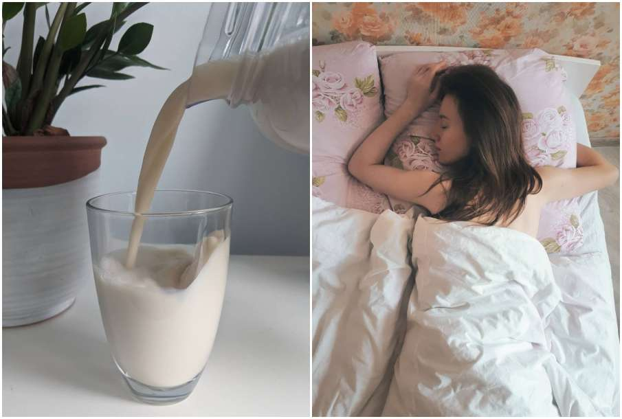 Drink Milk with Desi ghee for instant sleep at night- India TV Hindi