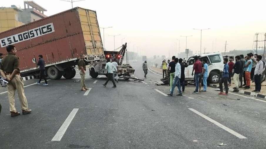 keshav prasad maurya security vehicle accident 3 policeman injured उप मुख्यमंत्री केशव प्रसाद मौर्य - India TV Hindi