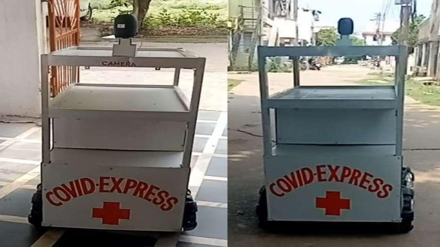 भिलाई स्टील प्लांट से सेवानिवृत्त कर्मियों ने लो वोल्टेज रोबोट किया डिजाइन, जानिए Covid Express की ख- India TV Hindi