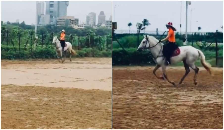 kangana ranaut horse riding sunday morning instagram video watch- India TV Hindi