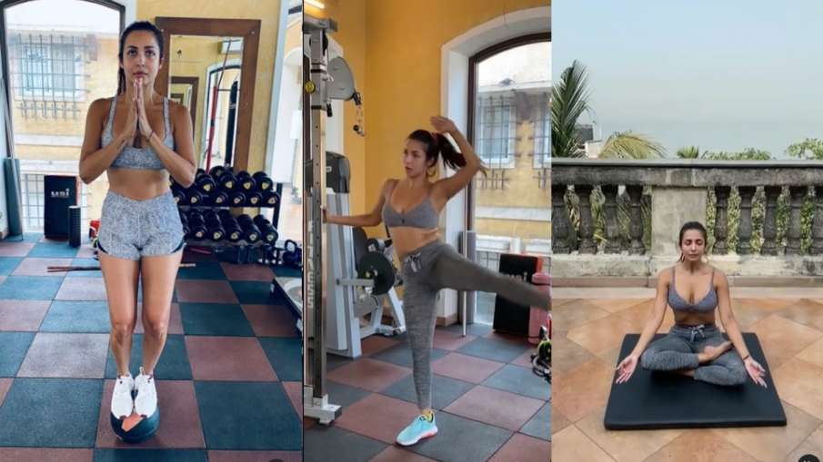 malaika arora ready for international yoga day live workout with fans watch instagram post - India TV Hindi