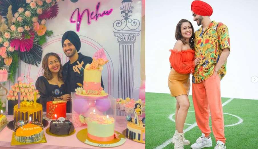 नेहा कक्कड़ ने बर्थडे सेलिब्रेशन के लिए पति रोहनप्रीत को शुक्रिया कहते हुए लिखा-मुझे लाइफ...- India TV Hindi