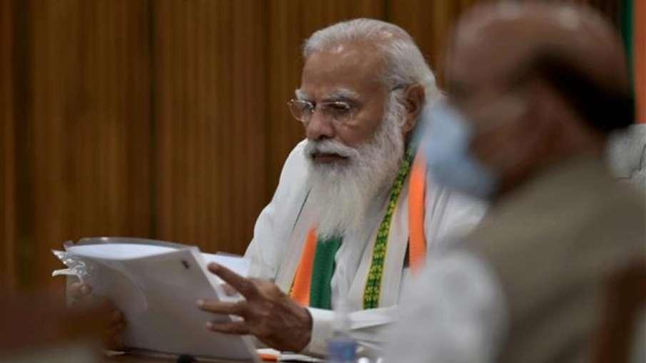 मोदी कैबिनेट का विस्तार होने वाला है? PM ने अमित शाह और राजनाथ सिंह सहित कई मंत्रियों के साथ की बैठक- India TV Hindi