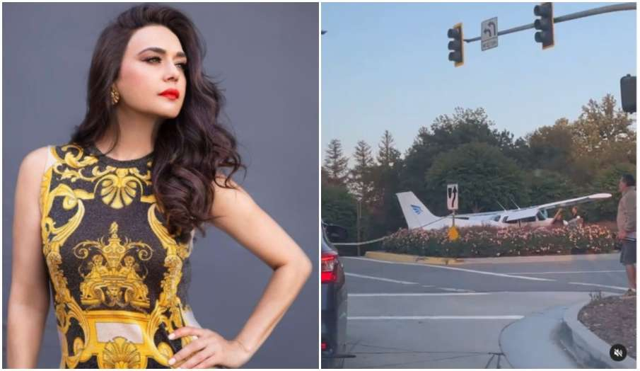 preity zinta see plane land on road says There is always first time for everything watch - India TV Hindi