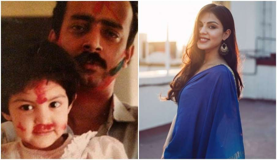 rhea chakraborty father's day- India TV Hindi