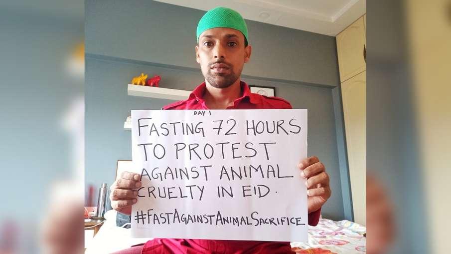 Meet Altab hussain who wants ban on animal killing on eid ग्रीन ईद का संदेश दे रहे हैं अल्ताब हुसैन,- India TV Hindi