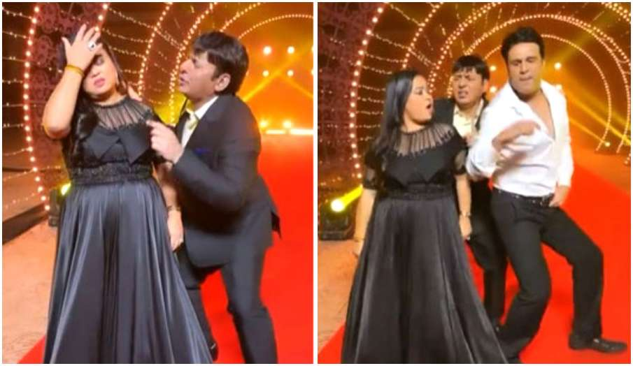 bharti singh krushna abhishek and sudesh lehri dance on bachpan ka pyaar mera bhool nahi jana re on - India TV Hindi