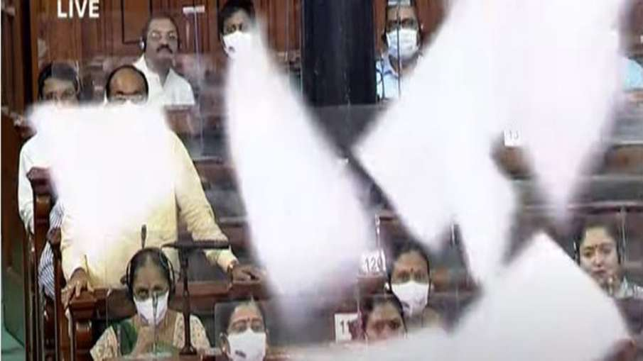 Modi govt to move motion seeking suspension of 10 MPs for throwing paper in Lok Sabha- India TV Hindi