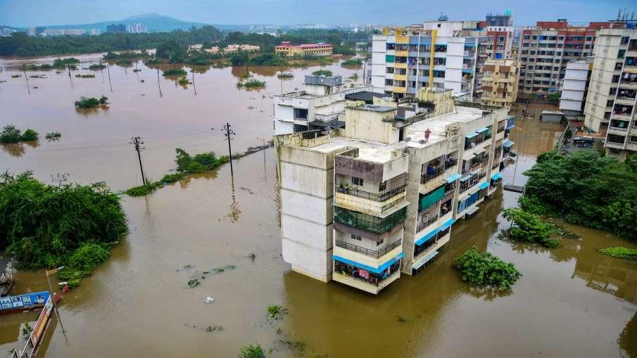 looded locality at Badlapur after heavy rains, Mumbai on Thursday.- India TV Hindi