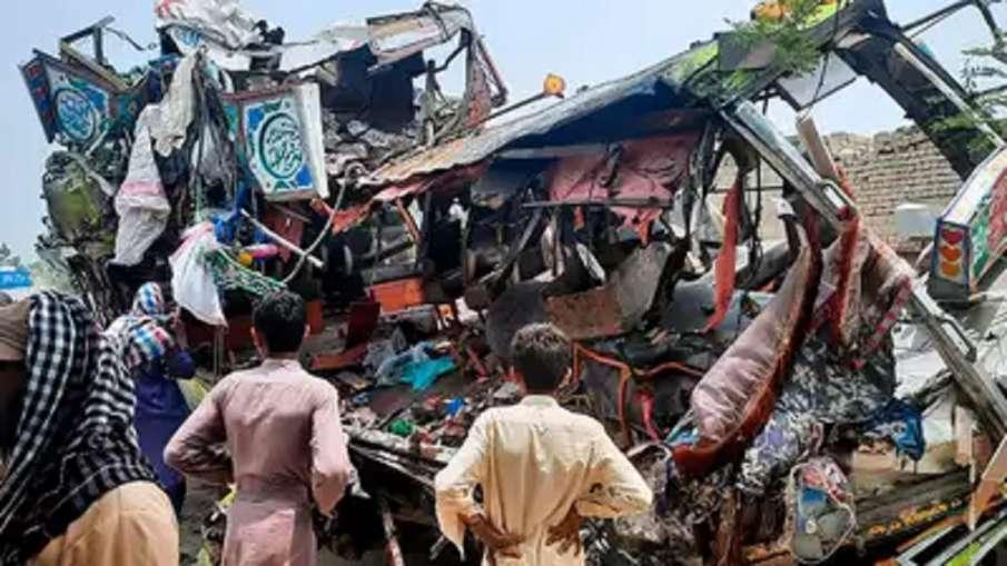 पाकिस्तान के पंजाब प्रांत में बस और ट्रक की टक्कर में 30 लोगों की मौत, 74 घायल- India TV Hindi