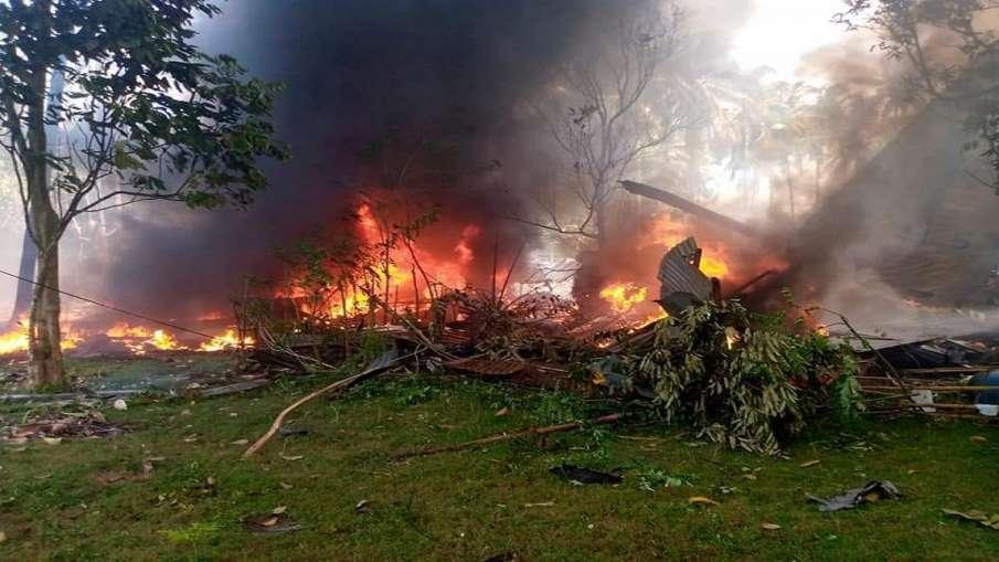 C130 military plane crashes in Philippine फिलीपीन में C-130 विमान दुर्घटनाग्रस्त, 40 लोगों को बचाया - India TV Hindi