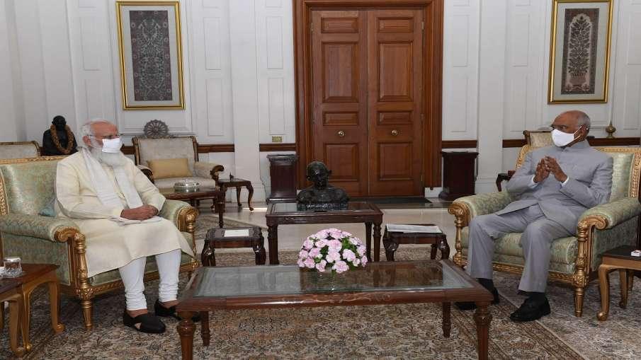 प्रधानमंत्री मोदी ने राष्ट्रपति कोविंद से की मुलाकात, 19 जुलाई से शुरू हो रहा मानसून सत्र- India TV Hindi