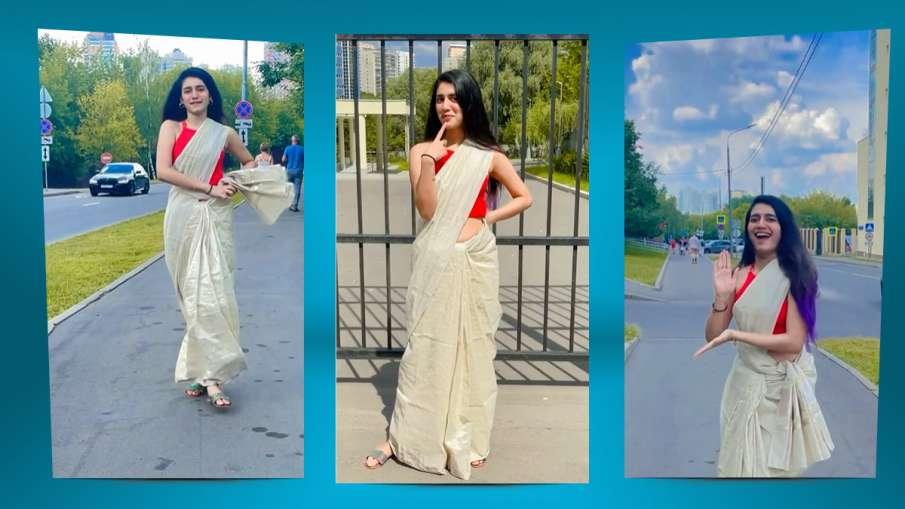 Priya Prakash Varrier dance in saree on malayalam song watch instagram post - India TV Hindi