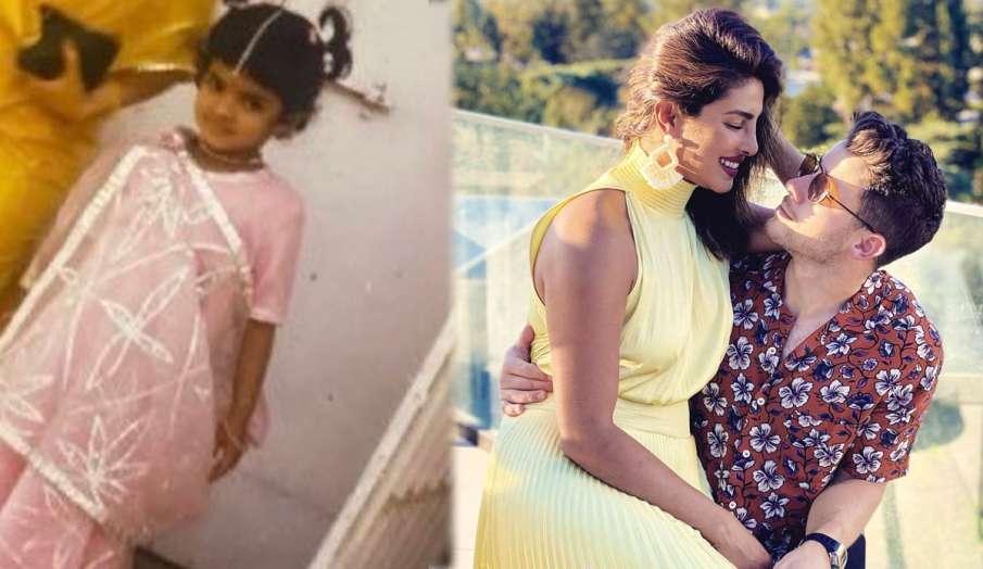 nick jonas wishes wife priyanka chopra on her birthday shares childhood photo on instagram and wrote- India TV Hindi