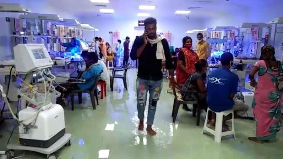 बारिश ने खोली राजस्थान सरकार के 'आधुनिक अस्पताल' की पोल, कई वार्डो में भरा पानी - India TV Hindi