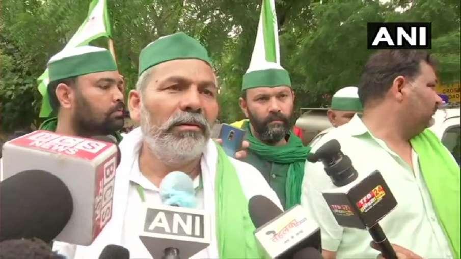 Rakesh Tikait on Meenakshi Lekhi calling farmers mawali- India TV Hindi