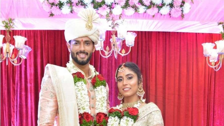 Shivam Dube Gets Married to his girlfriend Anjum Khan- India TV Hindi