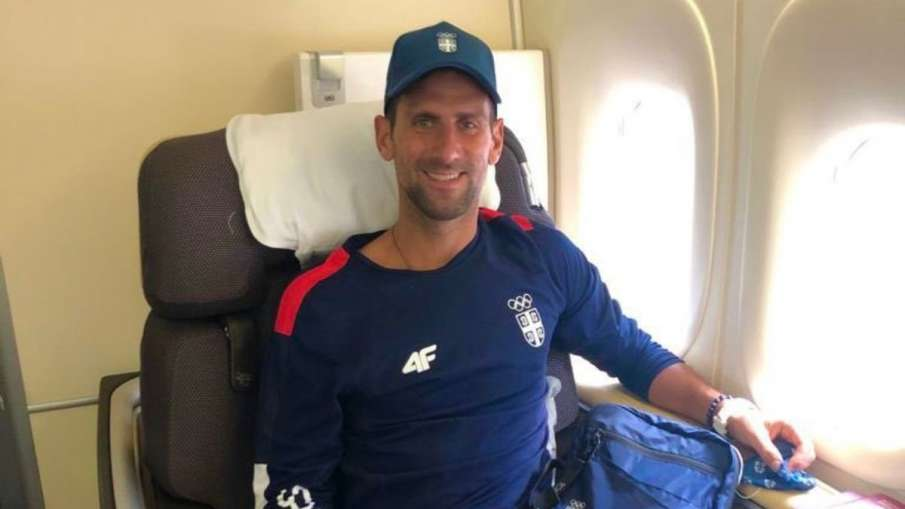 Novak Djokovic reaches japan to play for serbia in tokyo...- India TV Hindi