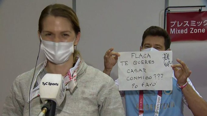 Tokyo Olympics 2020: Argentine fencer accepts marriage...- India TV Hindi