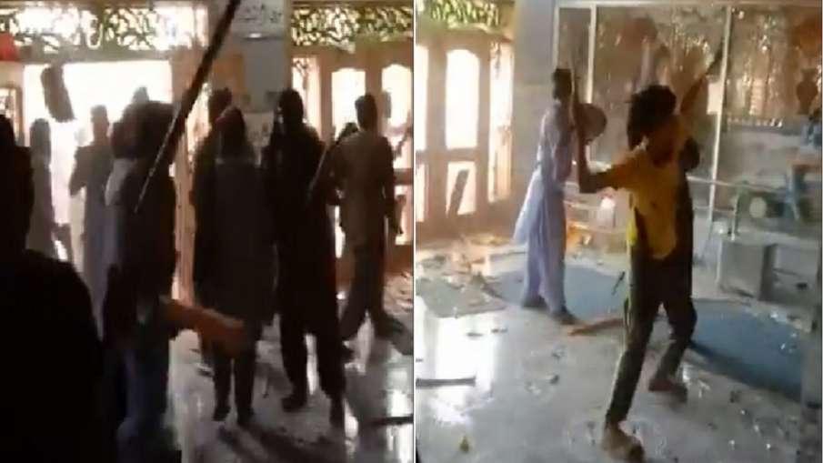 पाकिस्तान में भीड़ ने किया गणेश मंदिर पर हमला, मूर्तियों को नुकसान पहुंचाया- India TV Hindi