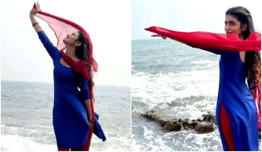 priya prakash enjoying monsoon watch her latest instagram video - India TV Hindi