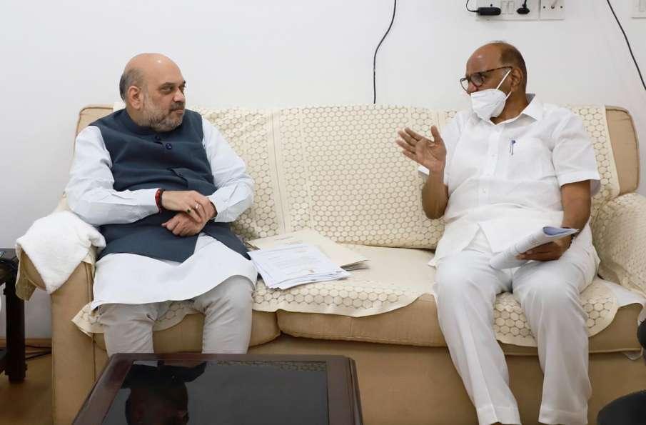 Breaking News: NCP Leader Sharad Pawar meets BJP Leader and Home Minister Amit Shah- India TV Hindi