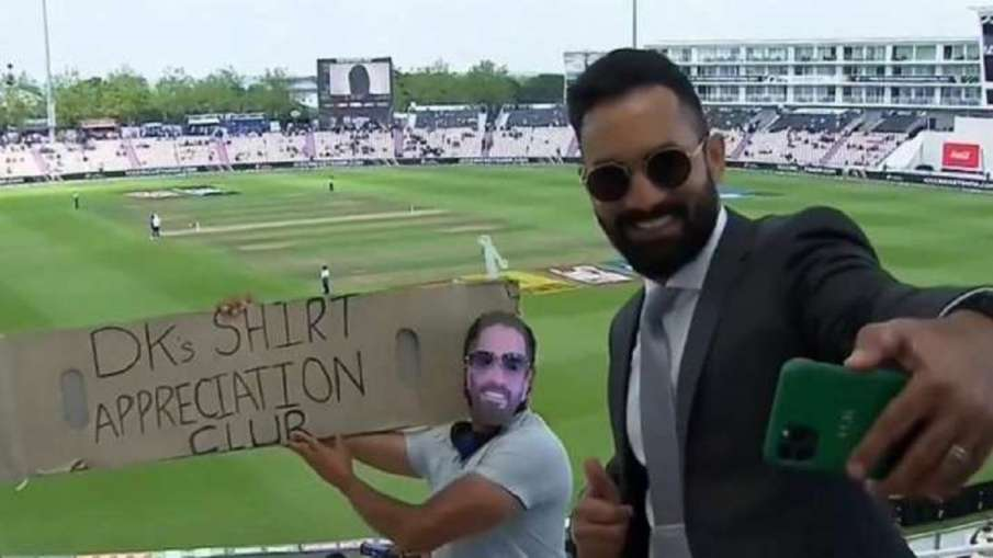 Dinesh Karthik landed on the cricket field after completing his commentary duties- India TV Hindi
