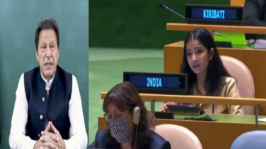 India taunts Imran Khan at UNGA Sneha Dubey says pakistan openly supports terrorists संयुक्त राष्ट्र- India TV Hindi