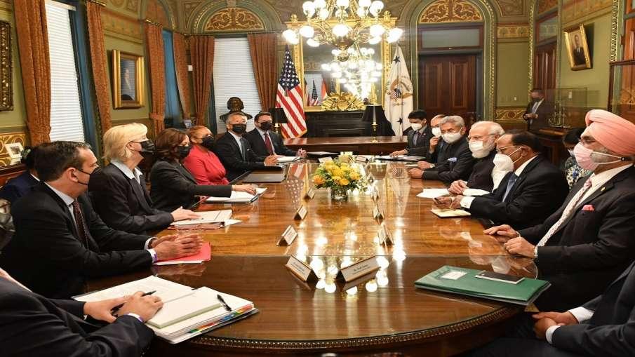 Modi US Visit: पीएम मोदी के साथ मीटिंग में कमला हैरिस ने उठाया आतंकवाद का मुद्दा, कहा-आतंकी संगठनों - India TV Hindi
