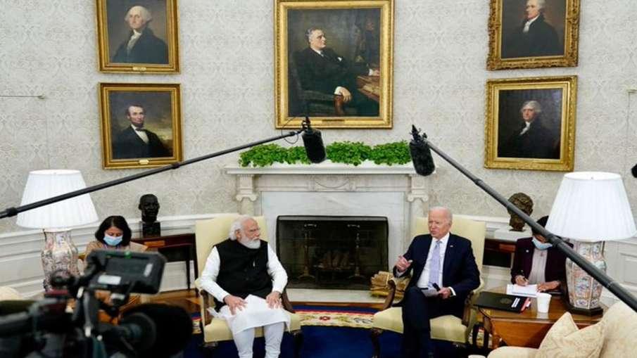PM Narendra Modi, President Joe Biden hold first bilateral meeting- India TV Hindi