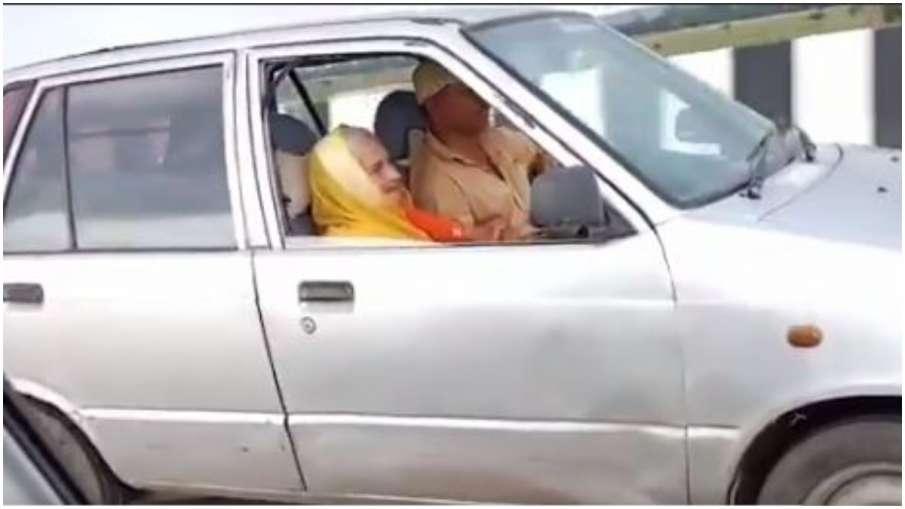 90 year old grandmother driving car- India TV Hindi