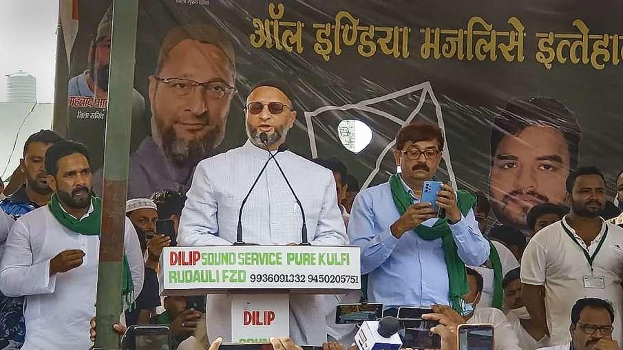 AIMIM posters creates controversy in sambhal before owaisi rally उत्तर प्रदेश: ओवैसी की जनसभा से पहल- India TV Hindi