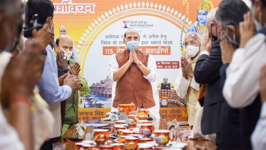 Rajnath Singh, Rajnath Singh Ram Temple, Rajnath Singh Water From 115 Countries- India TV Hindi