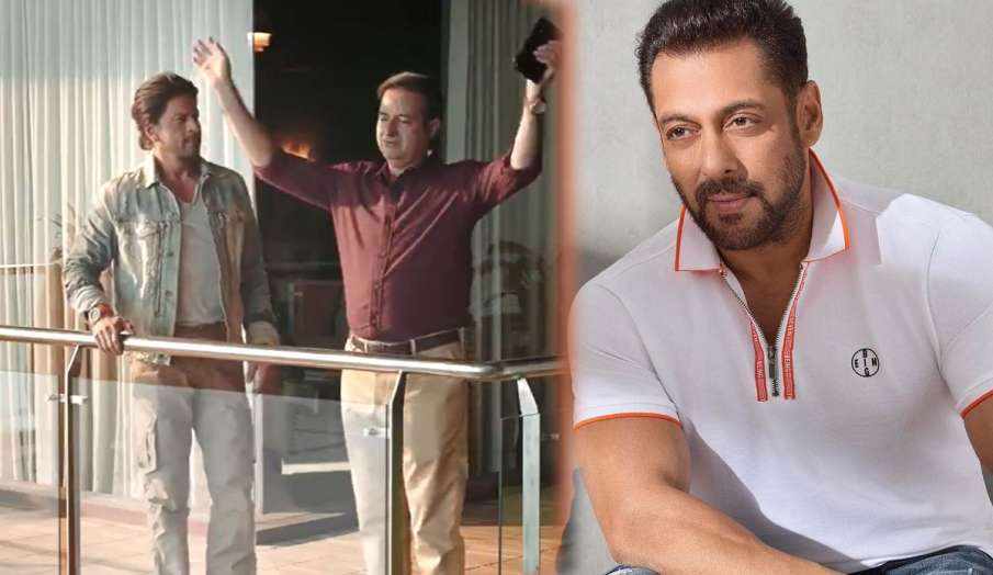 Salman Khan welcomes Shahrukh Khan on OTT watch new video- India TV Hindi