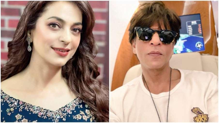 जब शाहरुख खान रात 2.30 बजे पहुंच गए जूही चावला की पार्टी में!  - India TV Hindi