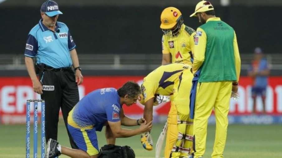 IPL 2021 CSK vs MI: Adam Milne's delivery hits...- India TV Hindi