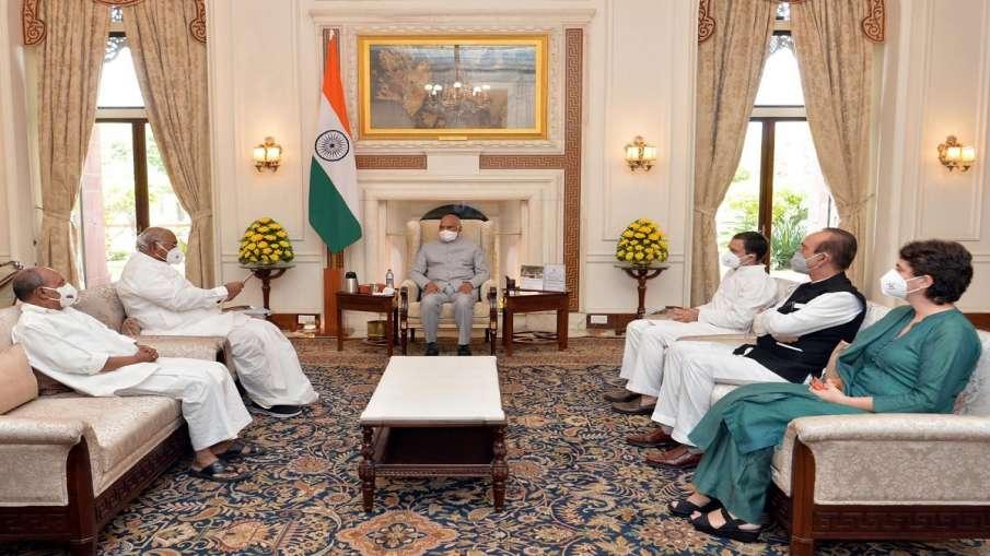 लखीमपुर मामले पर राष्ट्रपति से मिला कांग्रेस का प्रतिनिधिमंडल, केंद्रीय मंत्री अजय मिश्रा की बर्खास्- India TV Hindi